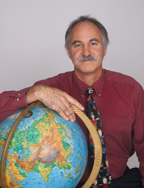 Dr Young and a globe